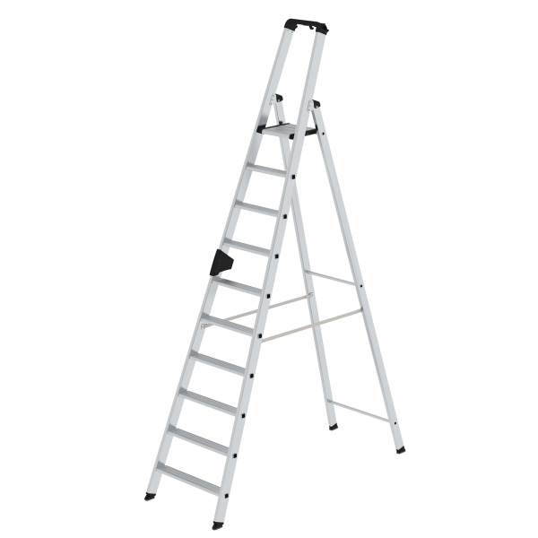 Double-sided step ladder with single-sided access 10 steps