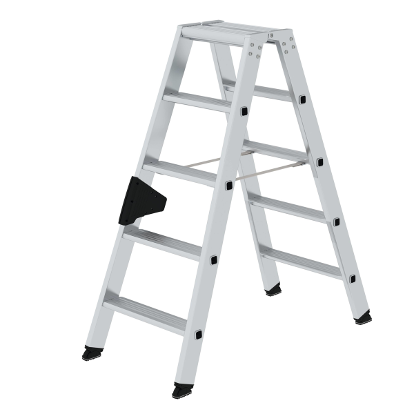 Double-sided step ladder with double-sided access 2x5 steps