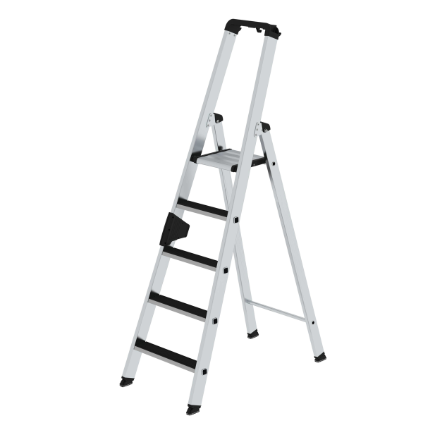 Double-sided step ladder with single-sided access with clip-step 5 steps