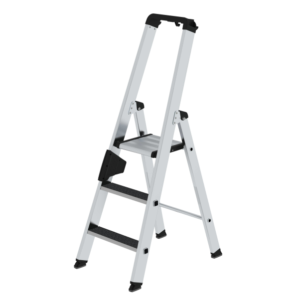 Double-sided step ladder with single-sided access with clip-step R13 3 steps