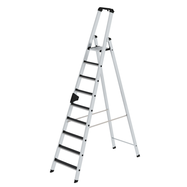 Double-sided step ladder with single-sided access with clip-step R13 9 steps
