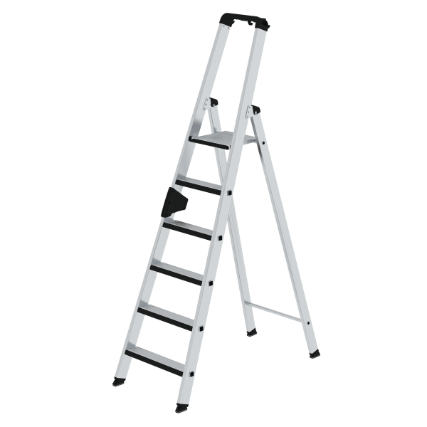 Double-sided step ladder with single-sided access with relax step® 6 steps