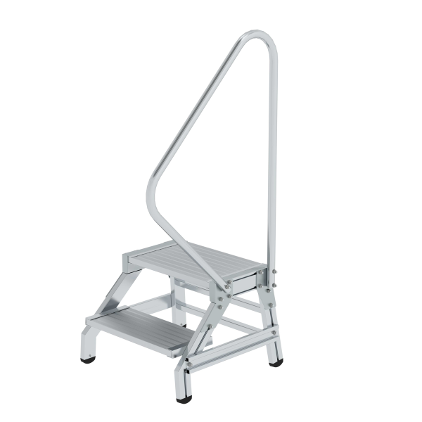 Work stand with handrail 2 steps
