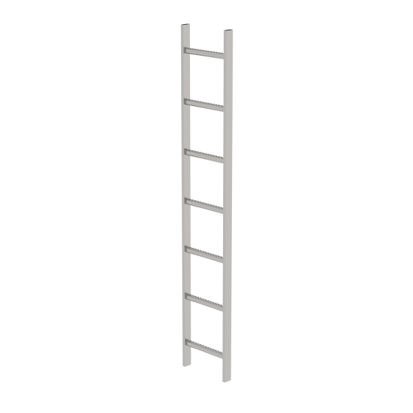 Shaft ladder stainless steel V4A 300 mm clear width 7 rungs