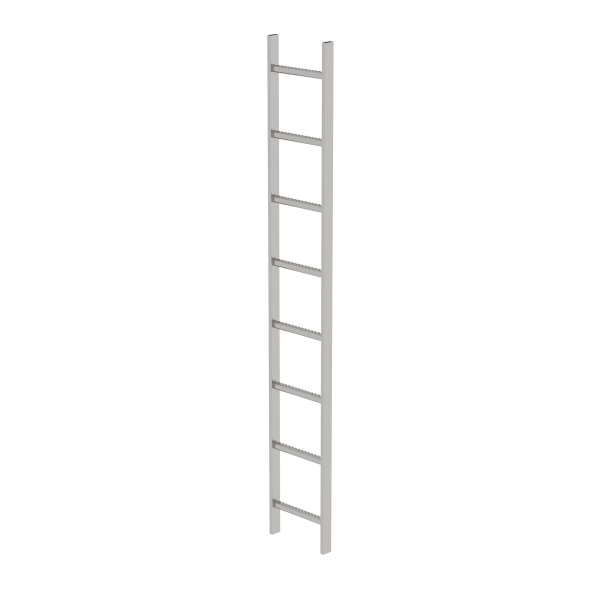 Shaft ladder stainless steel V4A 300 mm clear width 8 rungs