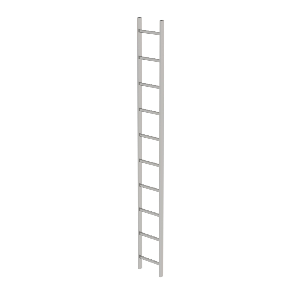 Shaft ladder stainless steel V4A 300 mm clear width 10 rungs