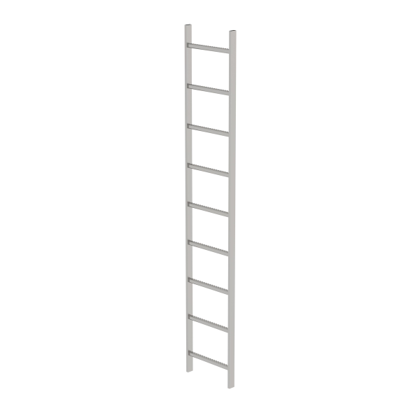 Shaft ladder stainless steel V4A 400 mm clear width 9 rungs