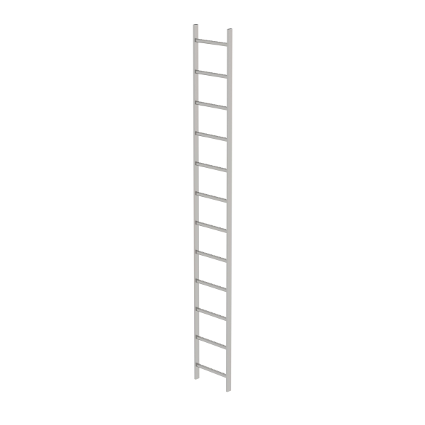 Shaft ladder stainless steel V4A 400 mm clear width 12 rungs