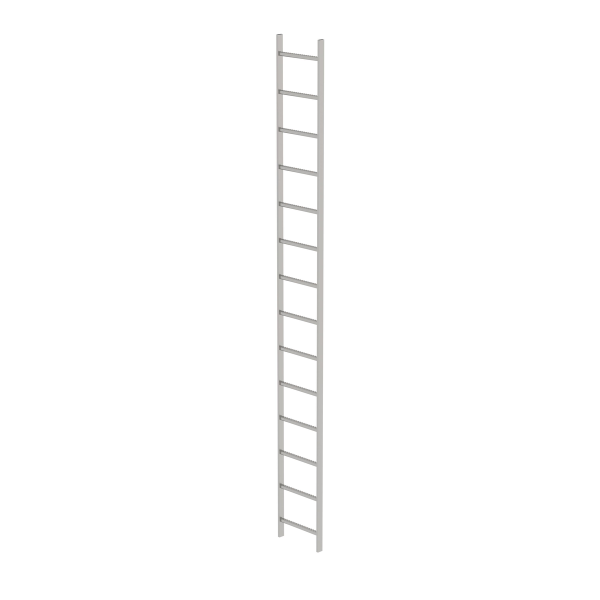 Shaft ladder stainless steel V4A 400 mm clear width 14 rungs