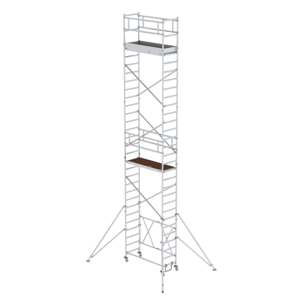 Folding scaffolding 0.75 x 1.80 m with outrigger Platform height 7.80 m