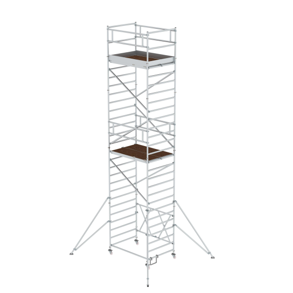 Folding scaffolding 1.35 x 1.80 m with outrigger Platform height 6.80 m