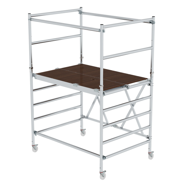 Folding scaffolding with extension unit Platform height 1.54 m