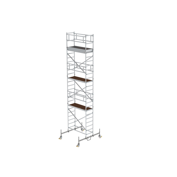 Mobile scaffolding 0.75 x 1.80 with platform at 2 m distance & chassis bar Platform height 6.45 m