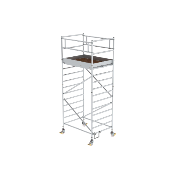 Mobile scaffolding 1.35 x 1.80 m with double platform Platform height 3.35 m