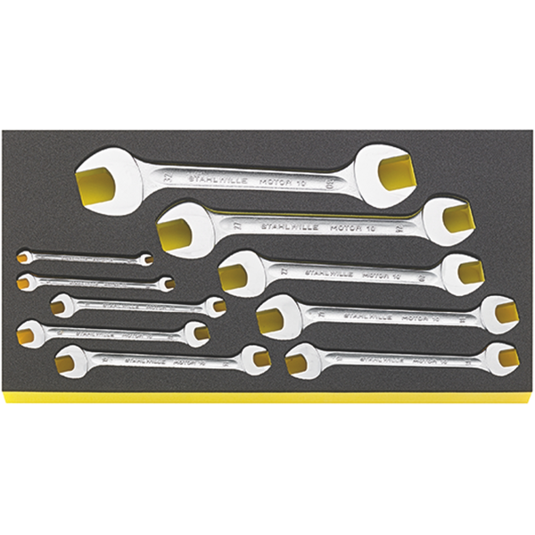Double open ended spanner i.TCS inlay No.TCS WT 10/10 6-32MM 10-pcs.