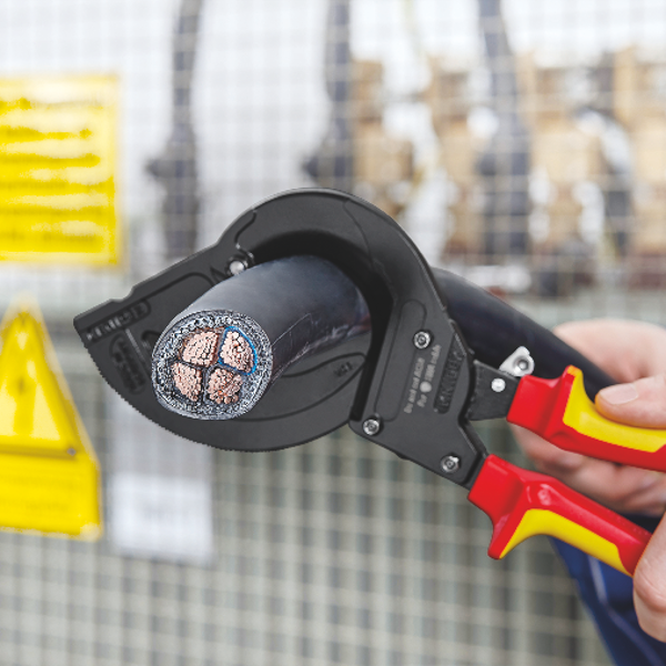 Ratchet cable cutter for steel-armoured cables (SWA cables) VDE insulated 315 mm
