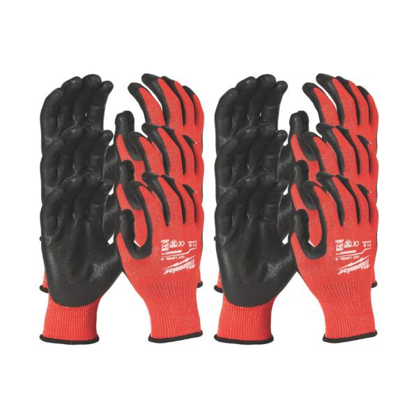 12PACK CUT LEVEL 3 DIPPED GLOVES - M/8