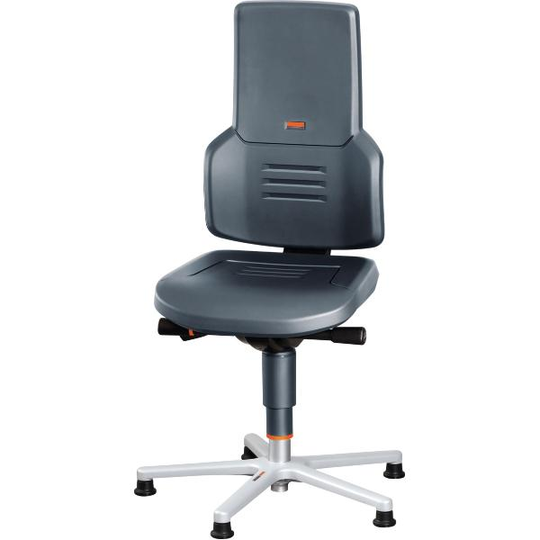 Swivel work chair with glides, low