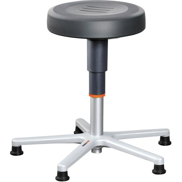 Work stool with glides, low