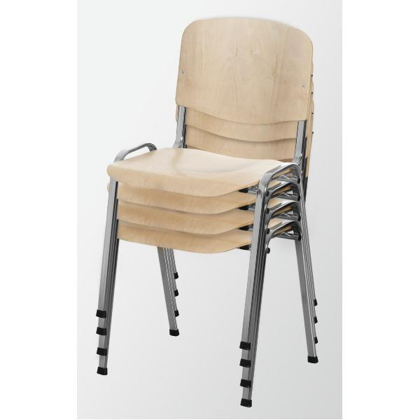 Stacking chair set 4 pieces 4 pcs.