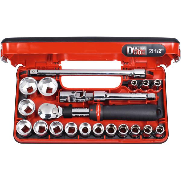 Socket set 1/2 inch square drive 21 pieces 6