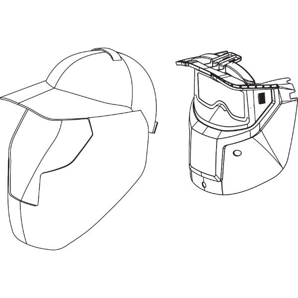 Visor set, 5 pieces external