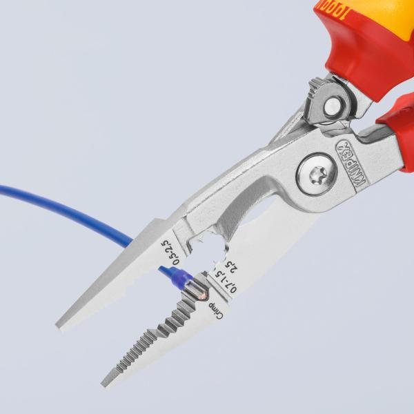 Installation pliers with opening spring VDE insulated 200 mm