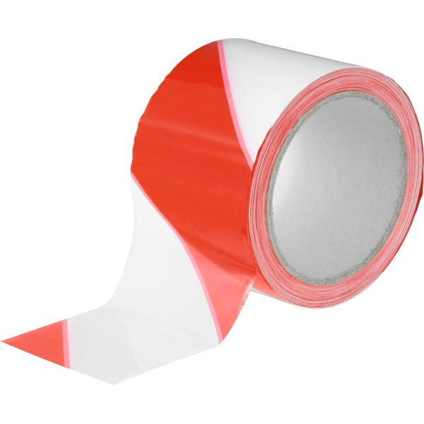 Barrier tape, red-white  70X100 mm×m