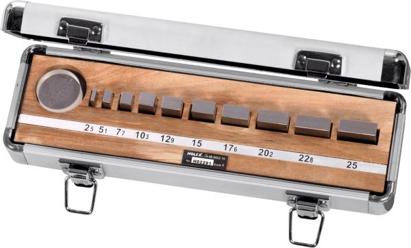 Gauge block set Steel, tolerance class 1 10