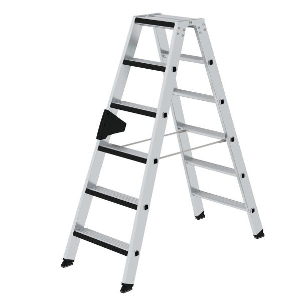 Double-sided step ladder double-sided access and relax step® 2x6 steps